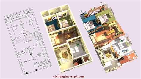 Modern House Design Plan by 5 Marla House Design Pictures Youtube