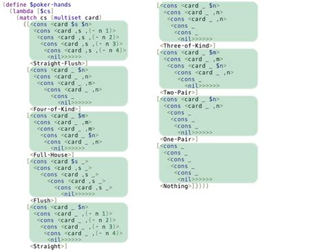 haskell pattern match variables egison programming language with non linear pattern