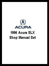 1996 acura slx shop manual set
