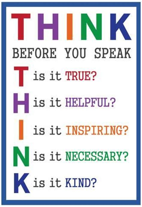 printable think poster think before you speak print at allposters com