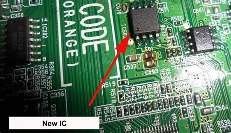 Ic Gambar Tv Led Lg flash rom ic caused standby problem in led tv electronics repair and technology news