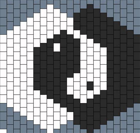 Black And White Kandi Mask Pattern | yin yang mask dos bead pattern peyote bead patterns