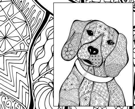 dog color pattern names zentangle dog colouring page animal colouring zentangle