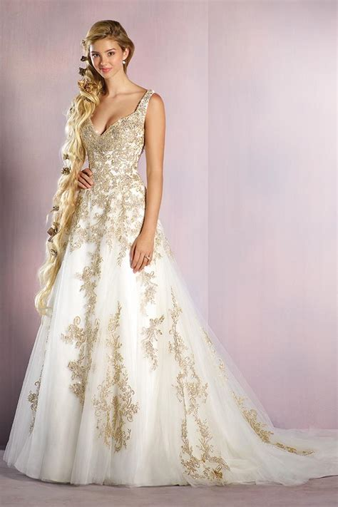 Rapunzel Wedding Dress from Alfred Angelo Disney Fairy Tale Weddings Bridal Collection   hitched