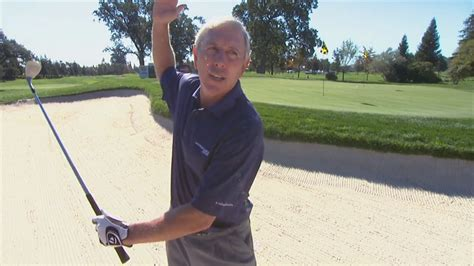 hale irwin golf swing hale irwin shares bunker swing advice from sam snead