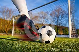 coup de pied du football photo stock image 39499265