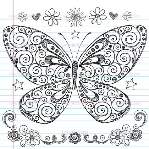 doodle drawing designs easy doodle designs sketchy butterfly
