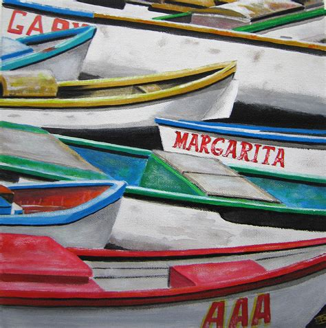 mexican fishing boat mexican fishing boats painting by trevor bennett