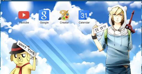 themes para google chrome anime contos de ooo finn jake anime google chrome themes