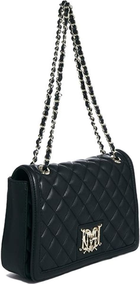 Moschino Quilted Logo Shoulder Bag by Moschino Quilted Logo Shoulder Bag In Black Lyst