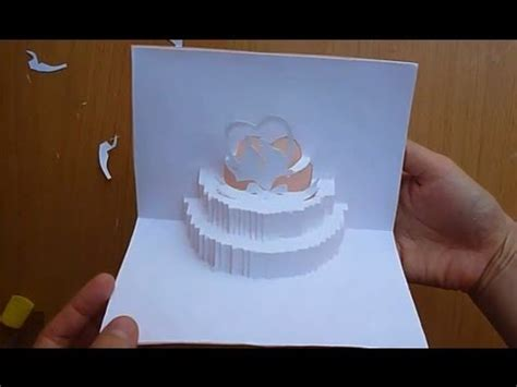 cake pop up card template wedding cake pop up card tutorial