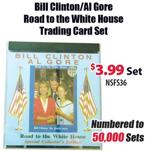 road to white house bill clinton al gore road to white house trading card set cardsone