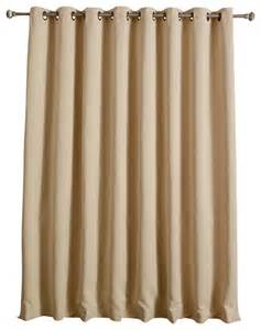 Wide Curtains Thermal Blackout Curtain With Wide Width Grommet Top 80