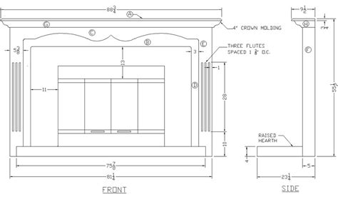 Fireplace Plans How To Build A Fireplace Mantel Surround Woodworking