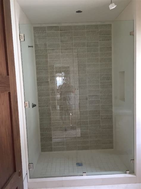 Large Shower Stall Large Frameless Glass Enclosure Patriot Glass And Mirror
