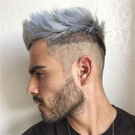 hair styles for light hair merman hair guys with colored hair and dyed beards