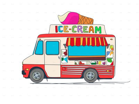 ice cream truck by bomberclaad graphicriver