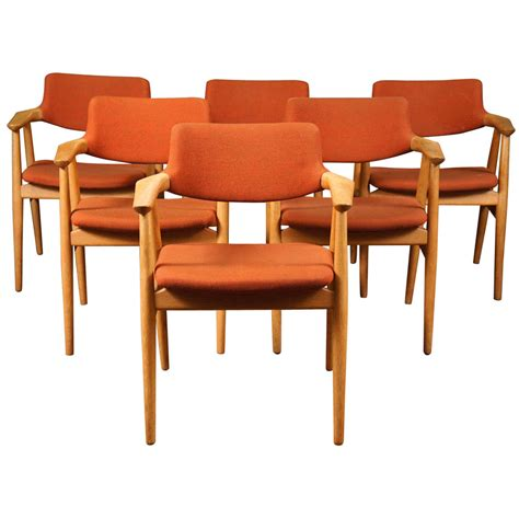 danish dining room furniture six danish modern dining chairs by erik kirkegaard at 1stdibs
