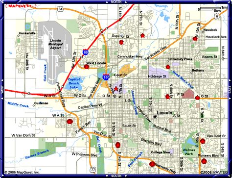 showing in lincoln ne map of lincoln nebraska travelsmaps