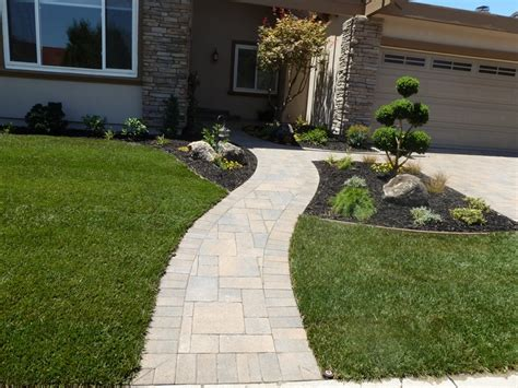 paver walkway front yard ideas pinterest
