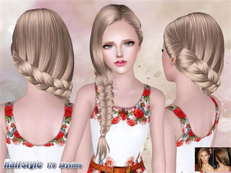 hair 217 by skysims sims 3 downloads cc caboodle skysims hair 179