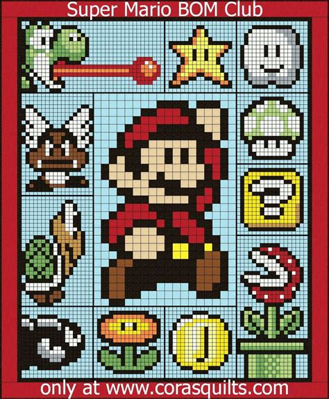 Mario Quilt by Cora S Quilts Mario Qa Bom Club Crafty Ideas