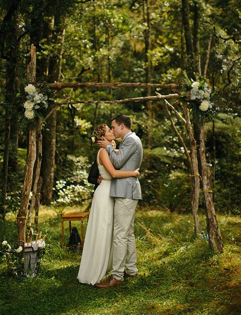 Wedding Ceremony Ideas New Zealand by Laidback New Zealand Cground Wedding Kate Liam