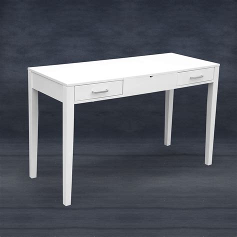 Modern Vanity Desk Modern White Dressing Vanity Table Make Up Writing Desk W Flip Mirror Storage Ebay