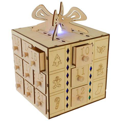 Advent Calendar Drawers Wooden multi led light up gift box drawers wooden advent calendar