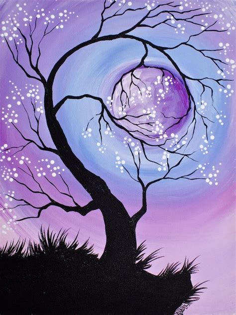 paint nite the tree 25 best ideas about moon painting on moon