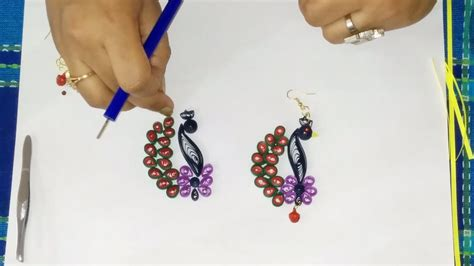 How To Make Easy Paper Earrings At Home - ring designs quilling earring designs