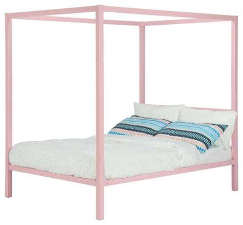 twin bed frame for girl metal platform canopy bed frame pink great for kids girls