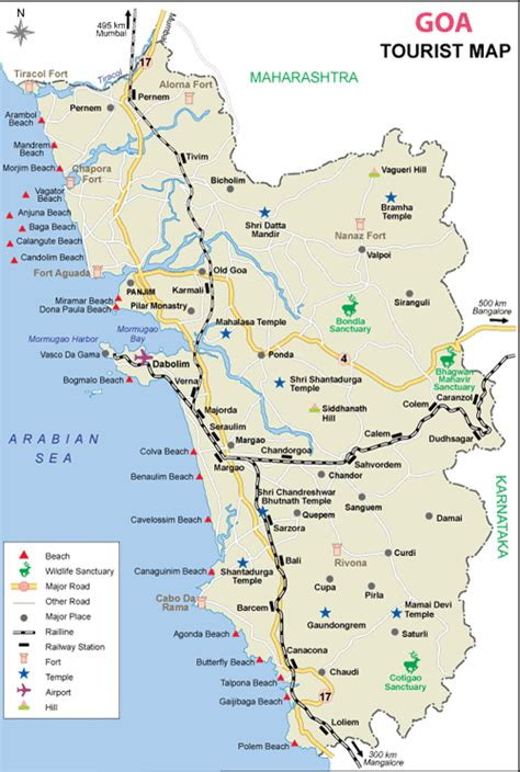 resort goa map image gallery karnataka tourist places list