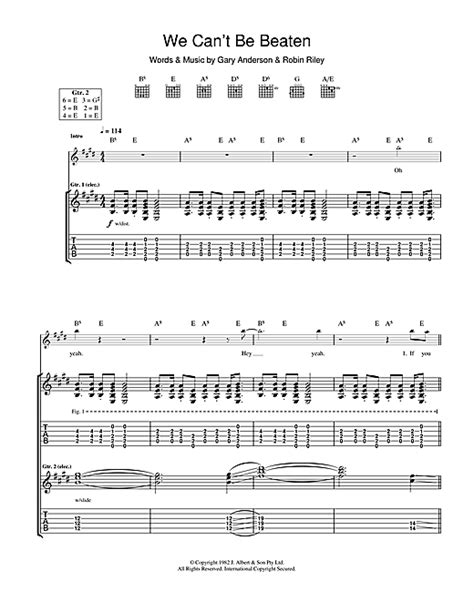 we can t be beaten guitar tab by guitar tab