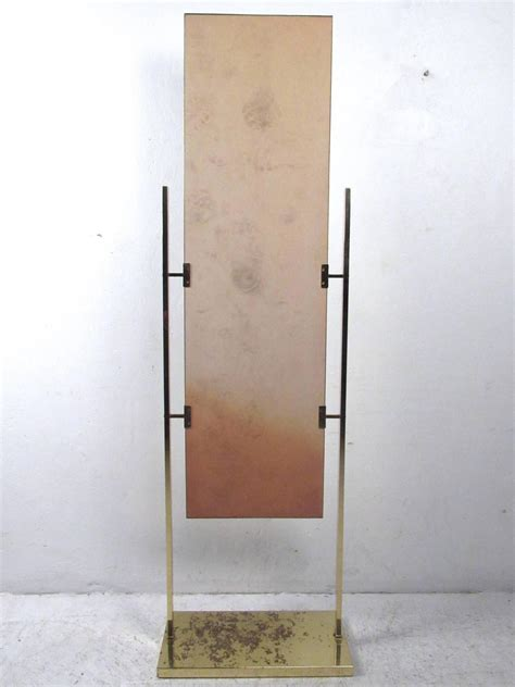 unique vintage brass finish dressing mirror for sale at