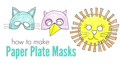 How To Make Paper Plate Masks - musical activities for minds on