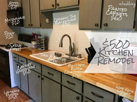 kitchen remodel ideas cheap kitchen refresh on a 500 budget refresh living