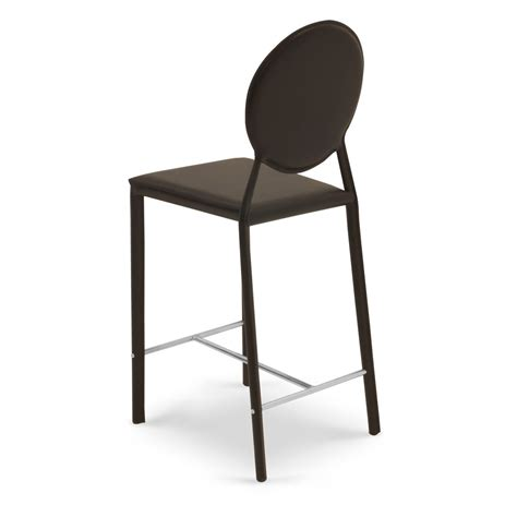 Brown Stools by Counter Stool With Metal Base