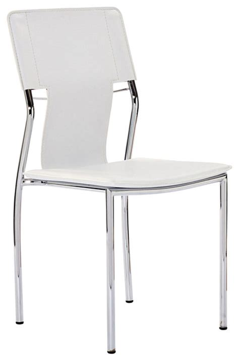 White Vinyl Dining Chairs Studio Dining Chair In White Vinyl Modern Dining Chairs By Lexmod