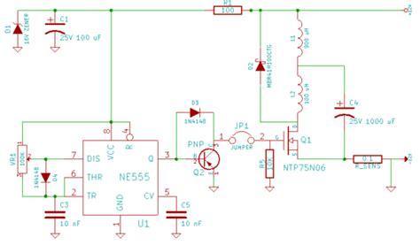 kickback diode circuit my 555 based inductor kickback desulfator lead acid battery desulfation