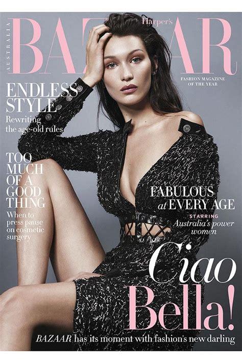 Harpers Bazaar Its Here by Hadid Covers S Bazaar Australia August 2016