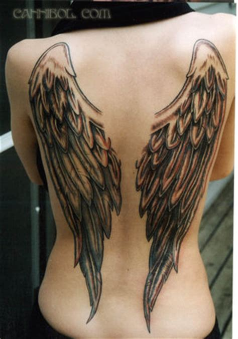 eclipse angel wings tattoo designs for girls