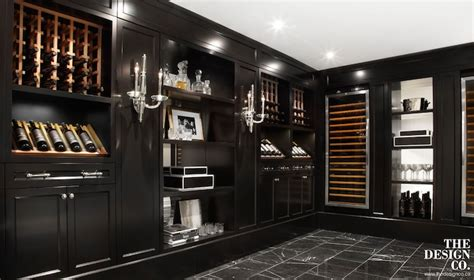 black built ins basement wine cellar ideas contemporary basement the design company