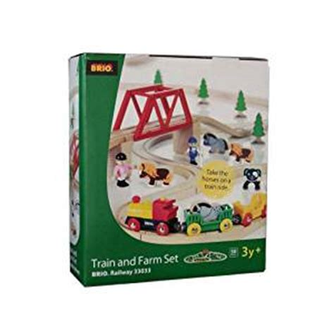 brio trains amazon brio train farm set amazon co uk toys games