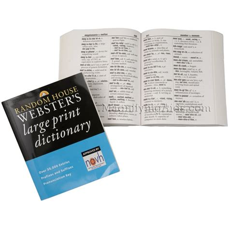 Random House Webster S Large Print Dictionary By Random House Large Print Paperback Large Print Cookbooks Dictionaries Bibles And More