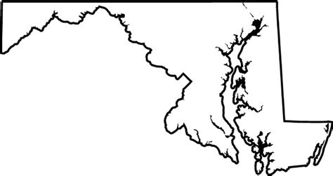 map of maryland outline state of maryland map outline bnhspine