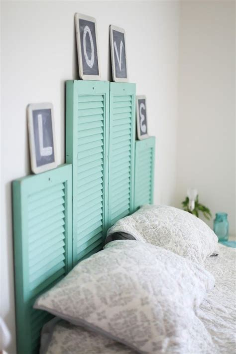 shutter bed 21 diy headboards to fall in bed for