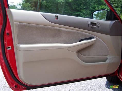 2001 honda civic lx coupe beige door panel photo 49807203