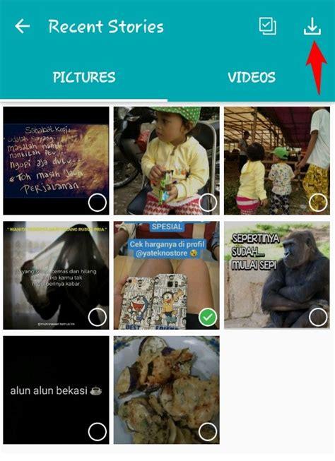 simpan foto video status whatsapp  android