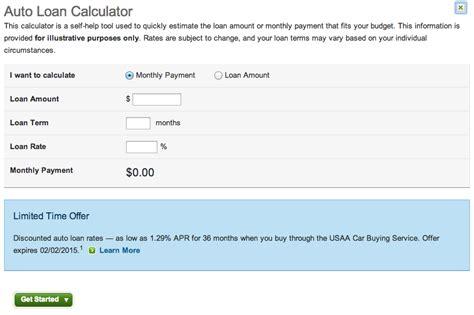 Usaa Home Loan by Usaa Auto Loan Calculator Automobilcars